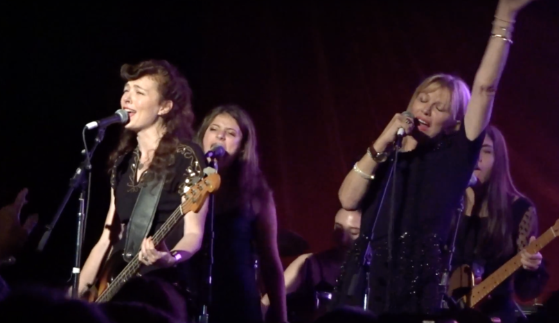 Hole's Courtney Love and Melissa Auf der Maur reunite