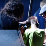Dave Grohl plays guitar for blind child