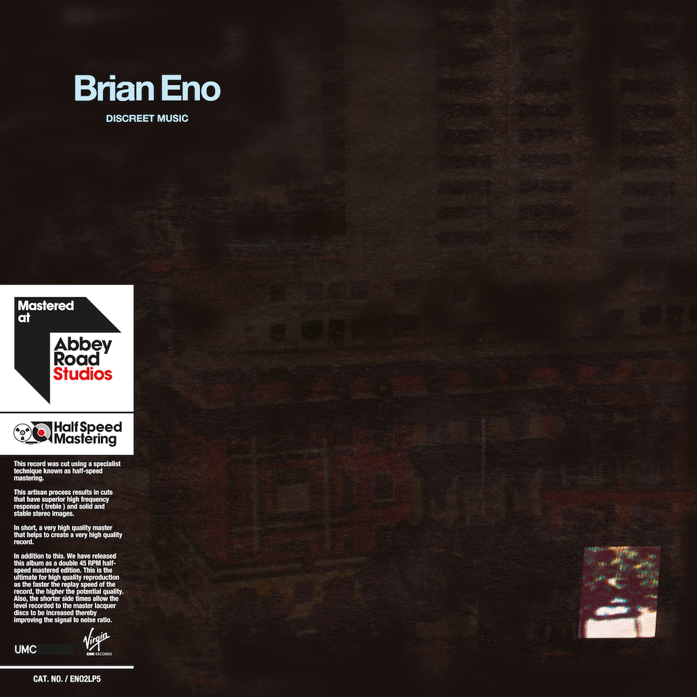 eno discreet music half speed master with obi Brian Eno announces vinyl reissues of four seminal ambient albums
