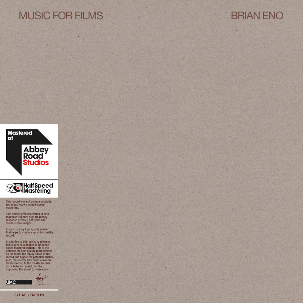 eno music for films half speed master with obi Brian Eno announces vinyl reissues of four seminal ambient albums