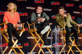 Future Man Josh Hutcherson Eliza Coupe Derek Wilson New York Comic Con 2018 Ben Kaye-126