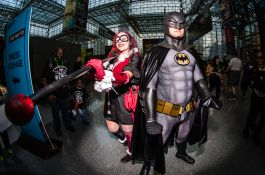 Harley Quinn and Batman New York Comic Con 2018 Ben Kaye-8