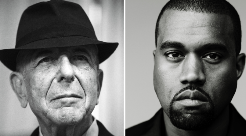 Leonard Cohen and Kanye West