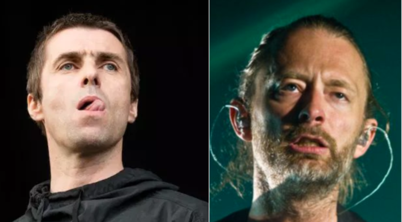 Liam Gallagher and Thom Yorke of Radiohead