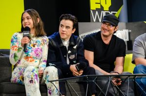 Rosa Salazar Keean Johnson Robert Rodriguez Alita Battle Angel New York Comic Con 2018 Ben Kaye-32