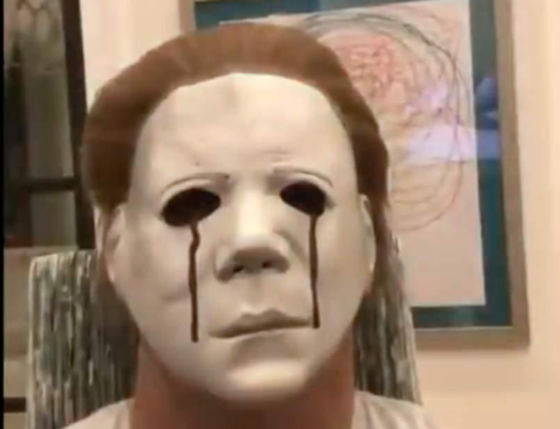 LeBron James as Michael Myers