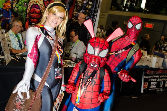 Spider-Gwen Spider-Ham Spider-Man New York Comic Con 2018 Ben Kaye-82