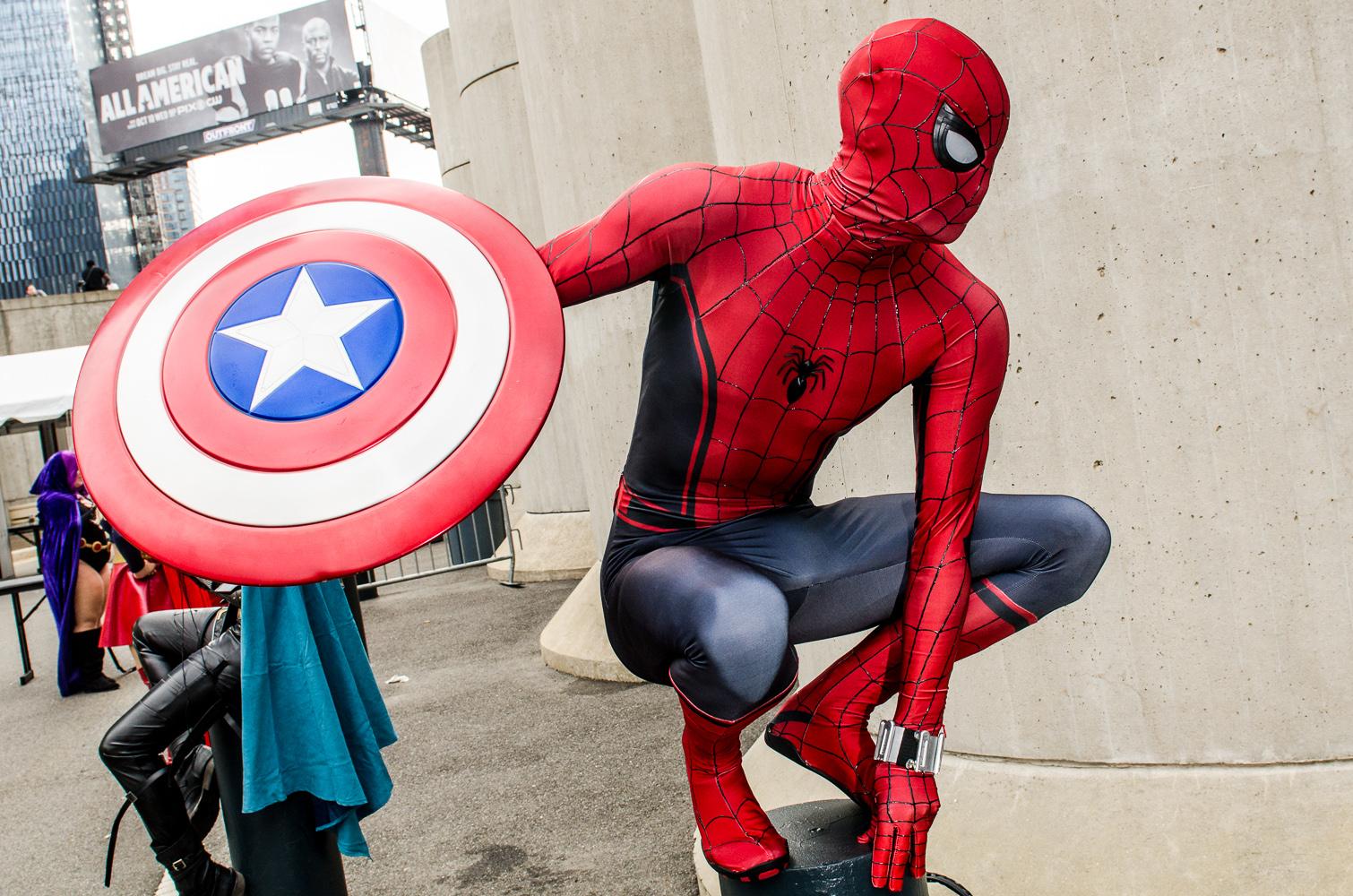 Spider-Man Captain America Shield New York Comic Con 2018 Ben Kaye-148
