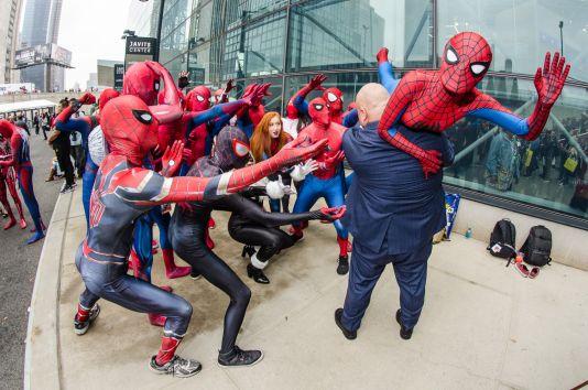Spider-Man Spider-Girl Spider-Woman Spidermen Black Cat Kingpin New York Comic Con 2018 Ben Kaye-134