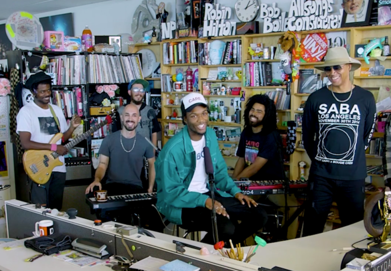 Watch Saba's Tiny Desk Concert for NPR
