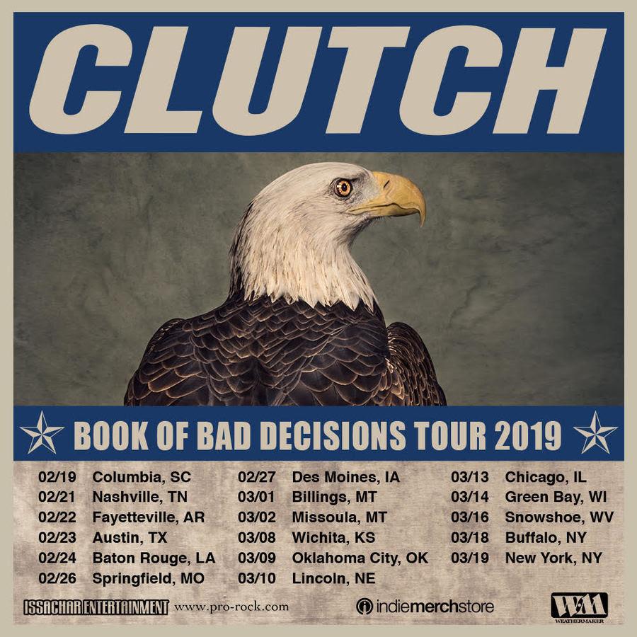 clutch tour poster 2019 Clutch announce 2019 US tour dates