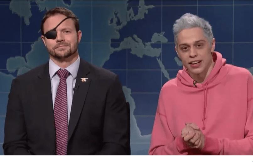 Dan Crenshaw and Pete Davidson, NBC's Saturday Night Live