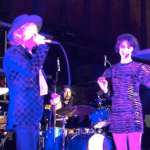 Dave Grohl, Beck, and St Vincent, photo via michelatafuri21 : Instagram