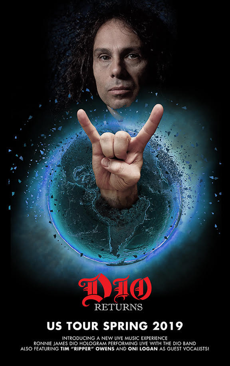 dio hologram tour poster Ronnie James Dio hologram tour to hit 100 plus cities in 2019; Frank Zappa hologram trek also in works
