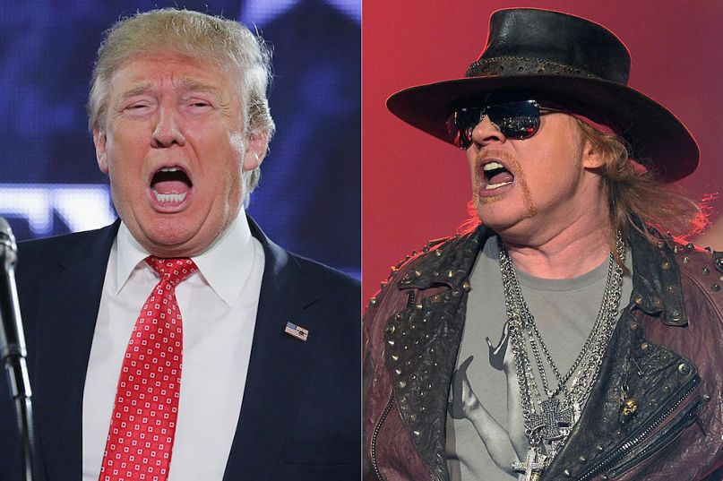 Axl Rose takes Trump to the jungle for playing Guns N' Roses