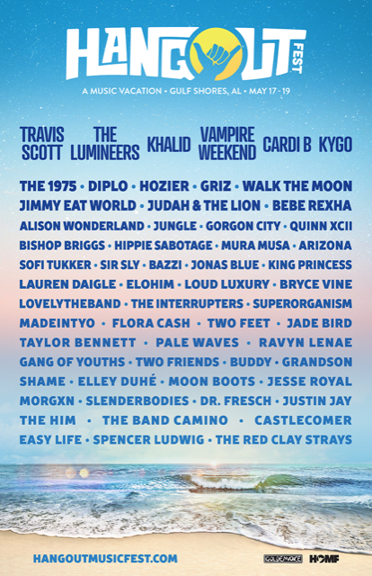 9a3b5956bd6f Hangout Music Festival reveals 2019 lineup: Vampire Weekend, Cardi B, Travis  Scott to headline