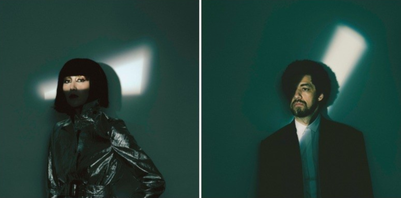 Karen O and Danger Mouse, photo by Eliot Lee Hazel