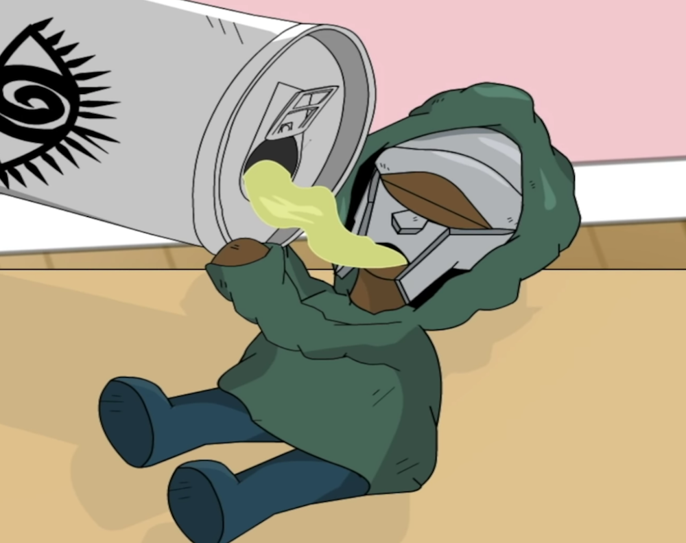 Fourteen Years Later Mf Doom Shares Animated One Beer Music Video Watch Consequence Of Sound