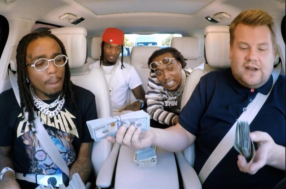 Migos bring stacks of cash, ad libs to Carpool Karaoke: Watch