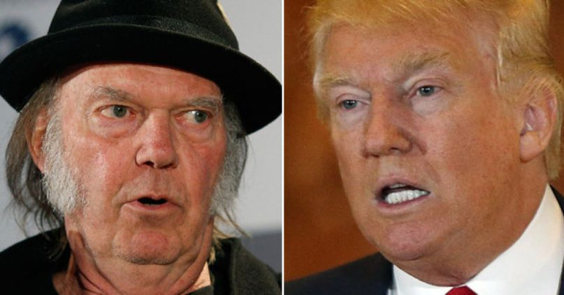 Neil Young and Donald Trump