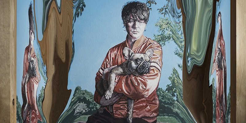 Panda Bear painting by Hugo Oliveira Buoys Album Announcement Dolphins