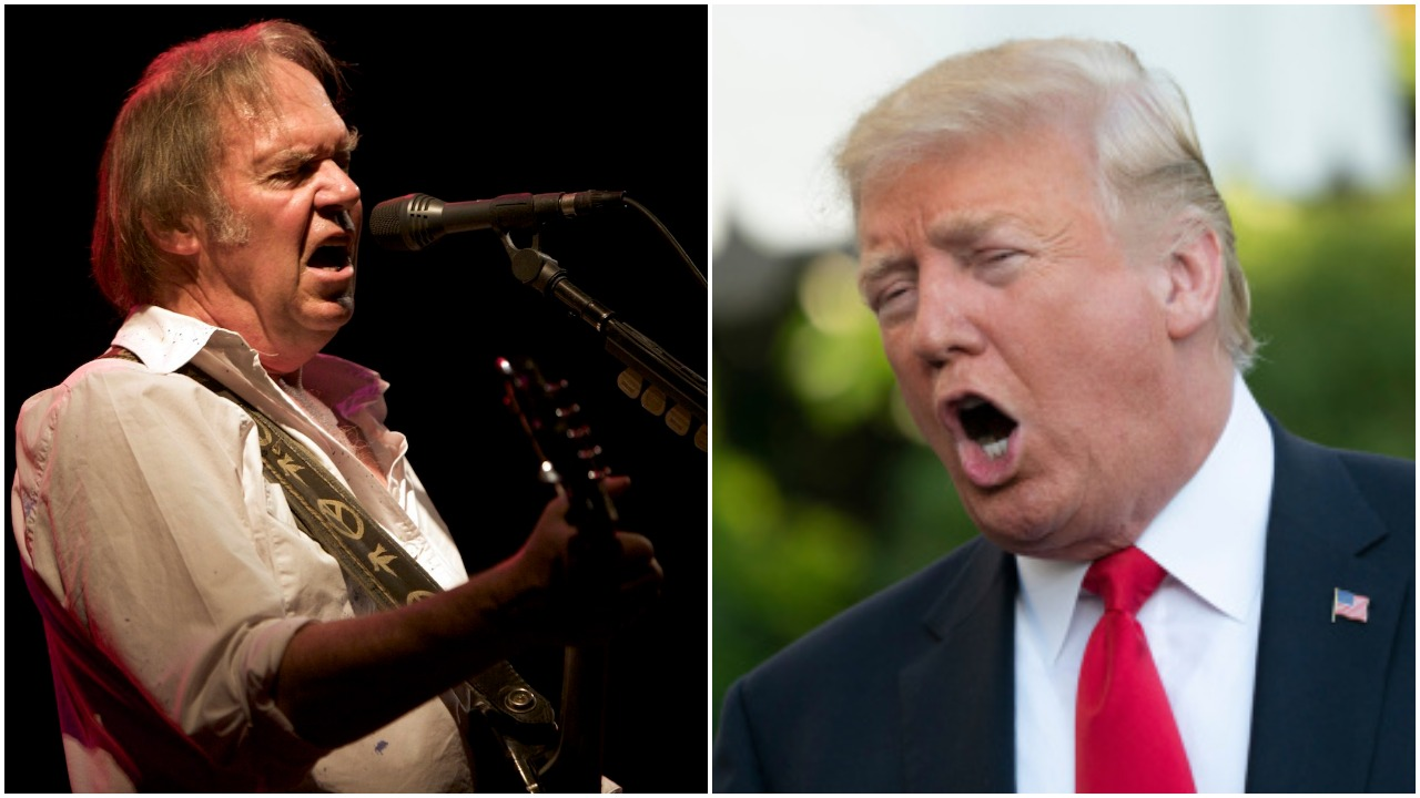 Neil Young Donald Trump rockin in the free world midterm rallies