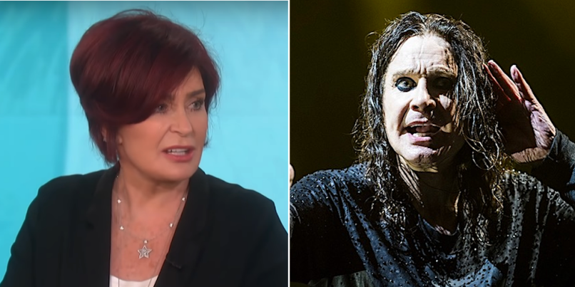Image result for images of ozzie and sharon osbourne""