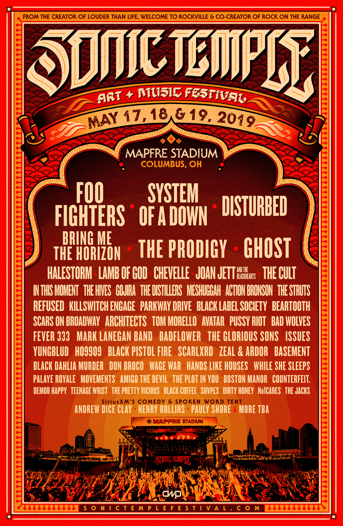 Sonic Temple Festival Poster