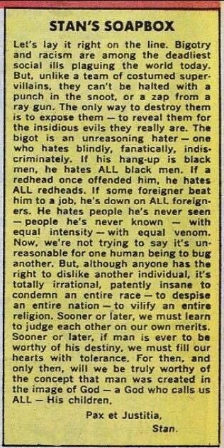 stan lees 1968 column stans soapbox that appeared monthly marvel comics Nuff Said: Words of Wisdom from Stan Lee