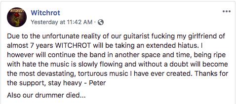witchrot band breakup