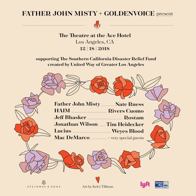 father john misty wildfire benefit