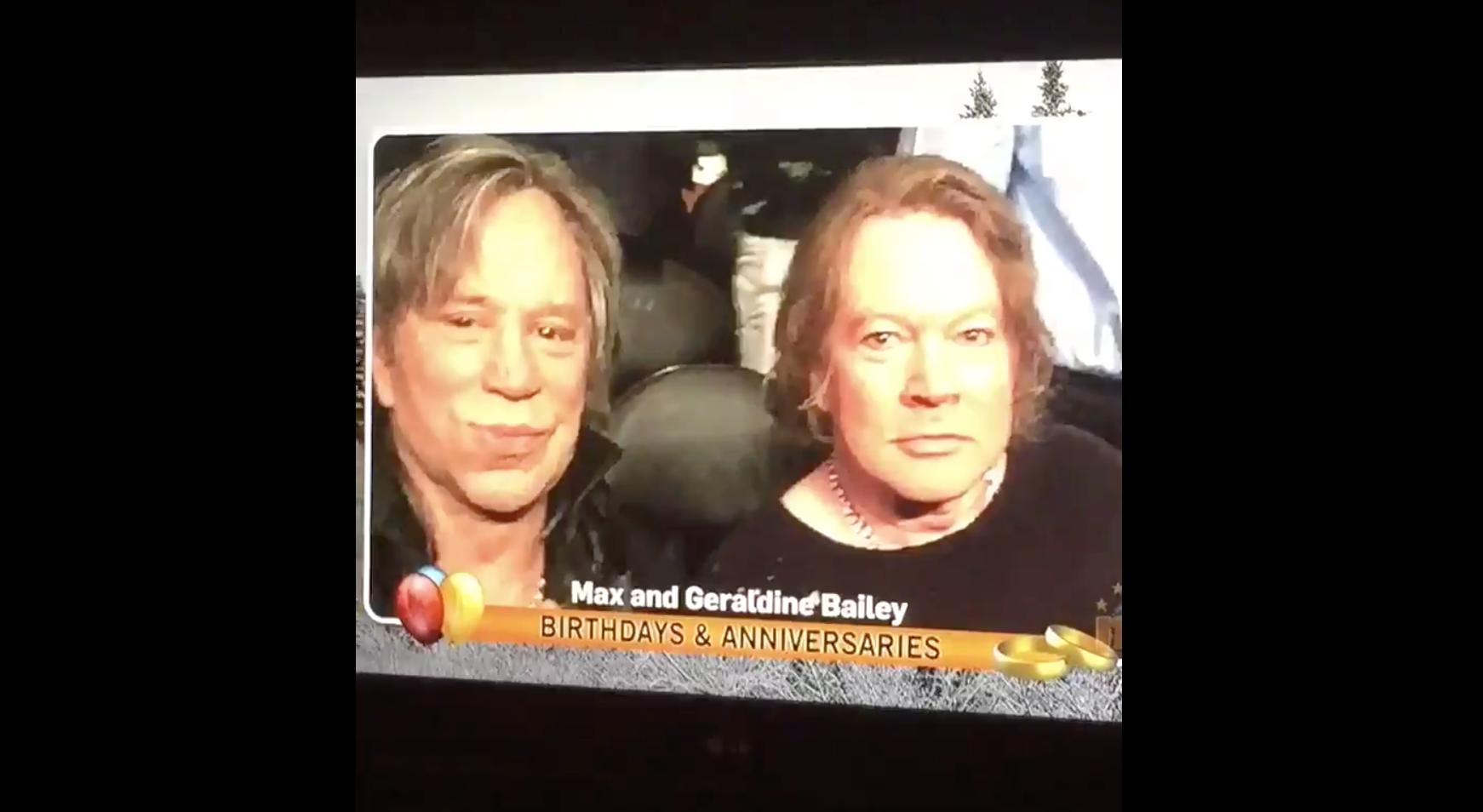 Axl Movie 2018 local news broadcast celebrates axl rose and mickey rourke's