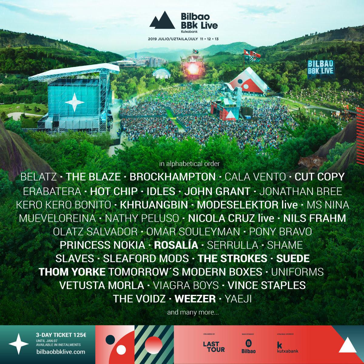 Bilbao BBK Live 2019 lineup