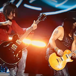 Guns N' Roses' Richard Fortus and Slash