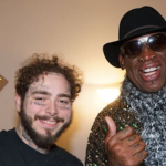 Post Malone and Dennis Rodman, photo by Adam DeGross