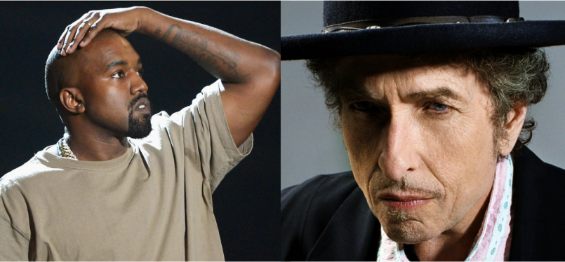 Kanye West and Bob Dylan Twitter