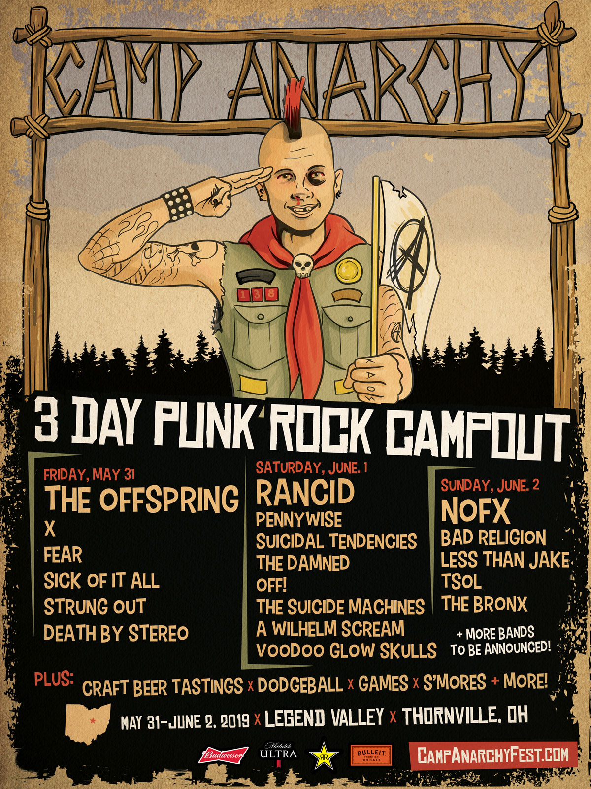 Camp Anarchy 2019 poster