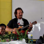 "Watch video Eddie Vedder performing ""Here Comes the Sun"" at Walmer High School"