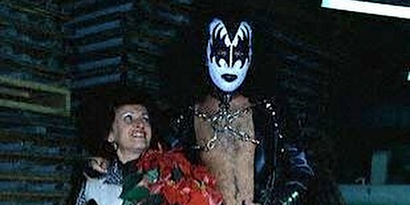 Gene Simmons with mother