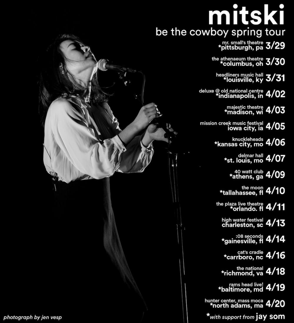 mitski be the cowboy 2019 tour dates