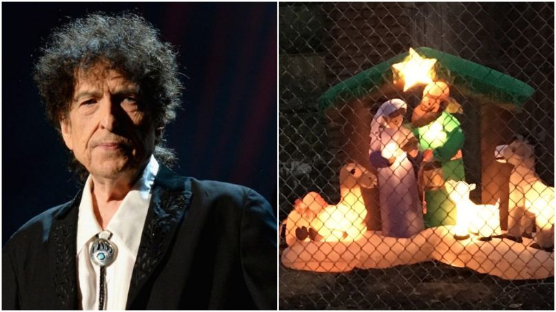 Bob Dylan Christmas Lights 2018 Holiday Quirky Vice Report
