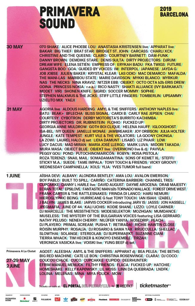 primavera sound 2019 lineup poster complete The 10 Hottest European Music Festivals to Check Out This Summer