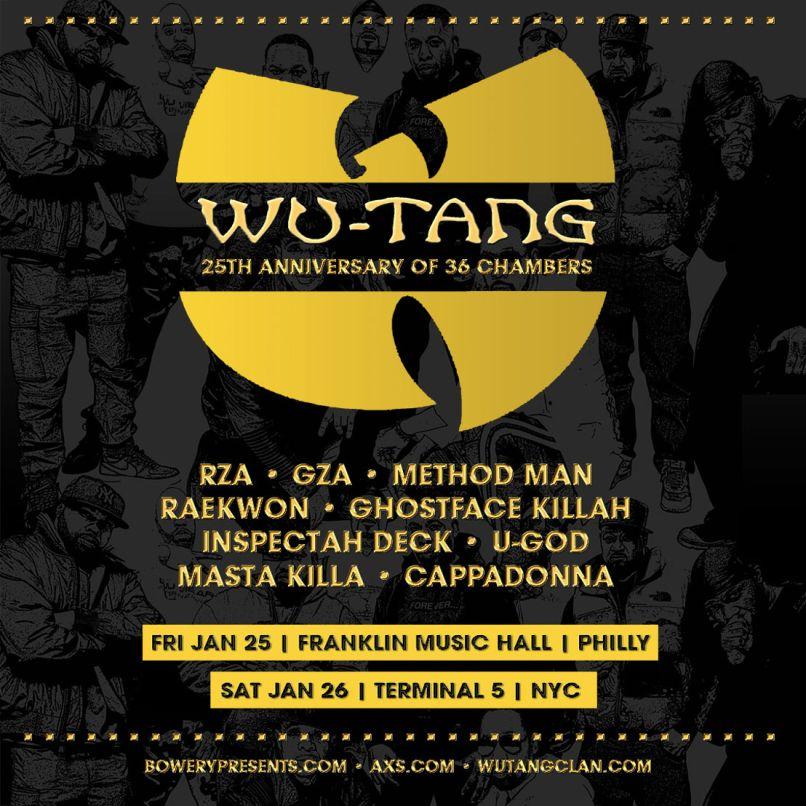 wu tang 2019 tour poster