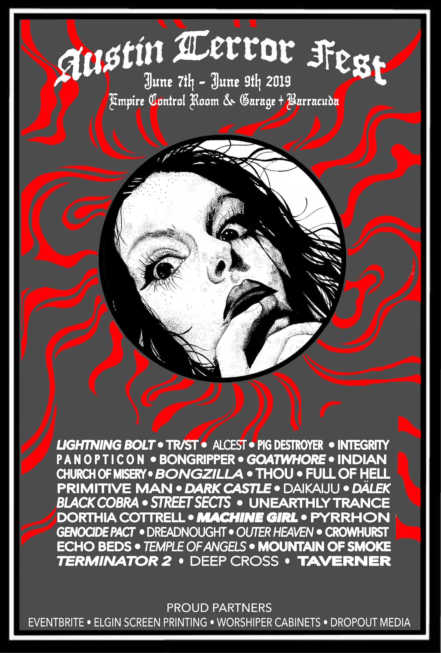 Austin Terror Fest 2019 - Lneup Poster