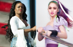 azealia banks (photo by philip cosores) and grimes (photo by eli russell linnetz) elon musk tesla lawsuit subpeona