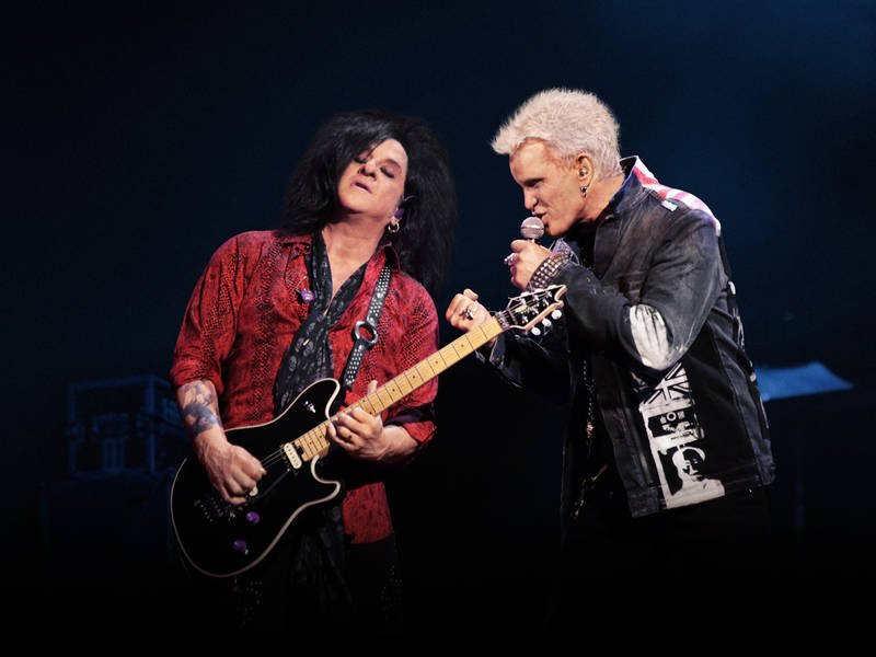 Billy Idol and Steve Stevens