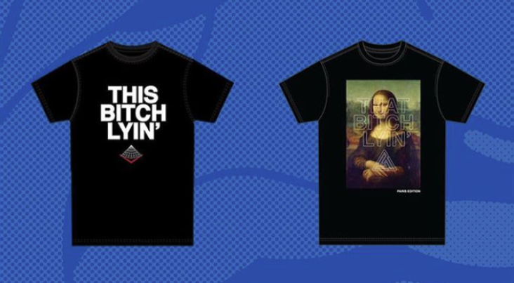"Chris Brown's ""This B*tch Lyin'"" t-shirt"