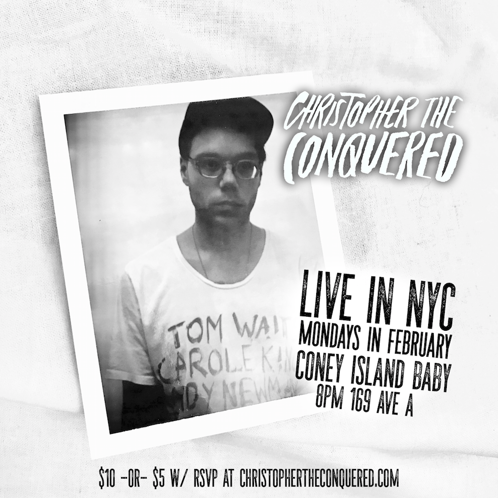 topher the conquered live in nyc poster