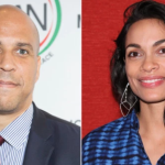 Corey Booker and Rosario Dawson