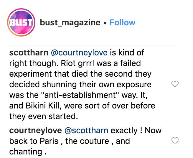 courtney love bikini kill feud riot grrl failed Courtney Love reignites Bikini Kill feud: DIY nonsense dilettante
